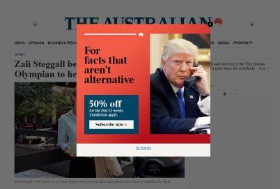 Aust paper Trump