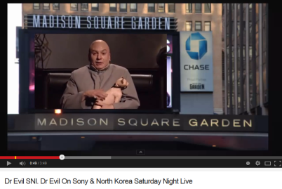 Dr Evil On Sony & North Korea Saturday Night Live
