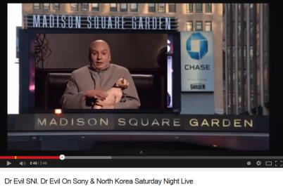 Dr Evil On Sony & North Korea Saturday Night Live