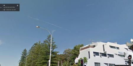 Chem Trail Google Street View 2013 Dee Why