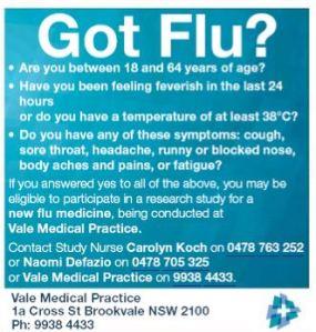 Got Flu.
