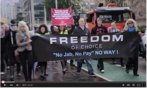 No Jab No Pay  No Way Sydney Protest Rally