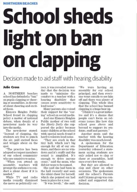 Clapping Ban Manly Daily 220716