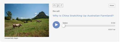 China land grab radio