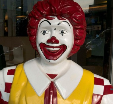 A Ronald McDonald statue outside an McDonald's outlet.