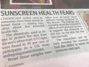 Sunscreen Fears